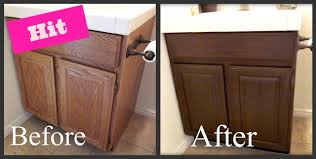 Refinishing Old Oak Cabinets, Refinishing the wood on my bathroom ...