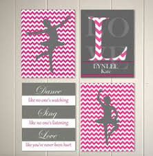 girls room wall art ballerina chevron hot pink baby girl nursery by picabooartstudio 39 00 on diy girl nursery wall art with ballerina dance nursery wall art diy printable by decorable designs