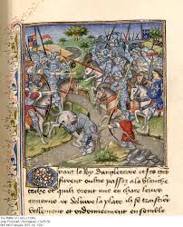 the battle of crecy hundred years war  the battle of crecy from a 15th century french manuscript