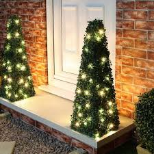 Solar Powered Topiary Ball Or TreeArtificial Topiary Trees With Solar Lights