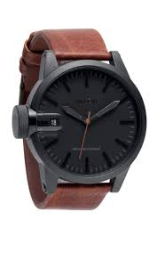 17 best images about men accessories men s leather i have a thing for matte black and brown leather watches nixon x barneys holiday