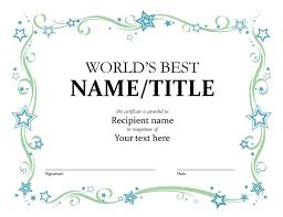 microsoft office certificate template worlds best award certificate office templates