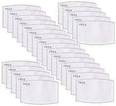 LZYMSZ 30 PCS <b>PM2</b>.<b>5 Activated Carbon Filter</b> Mouth Masks 5 ...