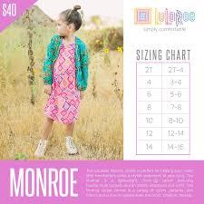 Lularoe Monroe Size Chart Lularoe Monroe Jacket Sizing Chart Lularoe Monroe Lularoe