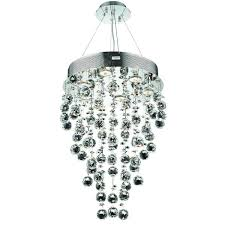 elegant lighting chrome clear 16 inch royal cut crystal clear hanging fixture
