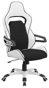black and white office furniture. brilliant furniture nadella highback executive office chair white with black inserts  contemporaryoffice in and furniture f