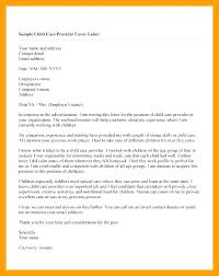 Cover Letter For Child Care Position Advocacy Cover Letter Cover