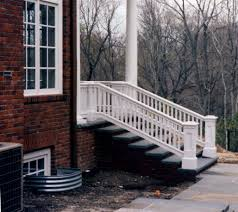 image of outside stair railing style