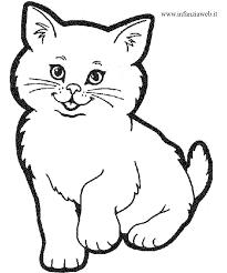 Disegno Di Un Gatto Az Colorare