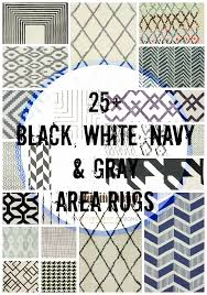 25 black white area rugs