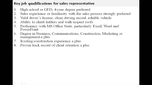 Sales Representative Job Description Sales Representative Job Description YouTube 3