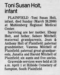 Obituary for Toni Susan Holt - Newspapers.com