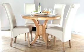 wood kitchen tables solid wood round dining table for four white leather chairs room set