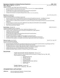 Reason For Leaving On Resume Examples