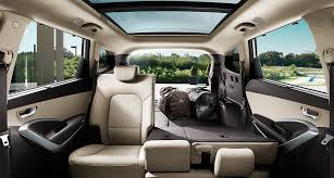 panoramic view of back seat interior with left seat folded