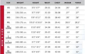 Aqualung Fins Size Chart Pacific Scuba Divers Dive Suit Size Charts