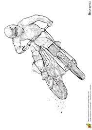Dessin A Colorier D U0027une Moto Cross En Acceleration