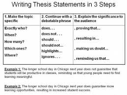 explain how to begin writing a thesis statement to the class in three steps brilliant alternative to the clunky unhelpful essay examples of process writing essays
