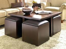 coffee table with 4 storage ottomans ottoman storage cube coffeeble with