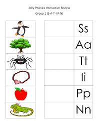 Split into 7 groups, the worksheets contain all 42 letter sounds. Jolly Phonics 1st Group Review Worksheet