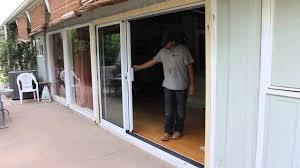 stacking glass doors attractive slide right 3 panel door you within 17