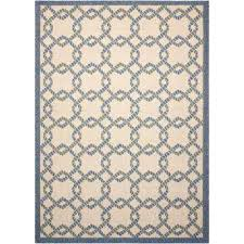 9x13 indoor outdoor rug 9 x rugs the home depot ivory blue compressed