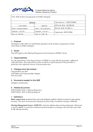 Sop Chart Pdf Title Sop On Hotel Arrangements For Emea Delegates