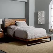 Logan Industrial Platform Bed - Natural