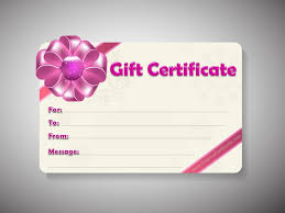 Gift Card Templates Free Gift Certificate Template Customizable