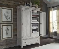 Farmhouse Reimagined Antique White Armoire White Armoire With Drawers H37