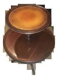 leather top coffee table 2018 vintage leather top 2 tier dumbwaiter round side table