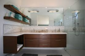 view in gallery lavish cherry bathroom cabinet floating effortlessly cabinets s76