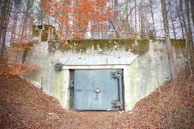 old abandoned cold war bunker in forest podborsko in poland