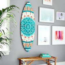 wooden surfboard wall art australia surf decor throughout plans 1