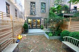 Small Picture Brook Landscape GARDENS brooklyn brownstone brick paved