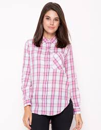 check small. Nevada Small Check Printed Shirt - Pink