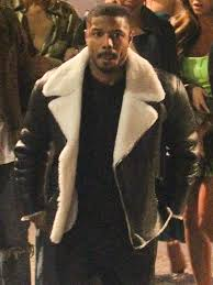 michael b jordan b3 flying shearling jacket