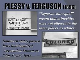 segregation and discrimination ppt 5 plessy v