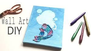 wall art diy diy mermaid decor how to create a metal effect on wall art