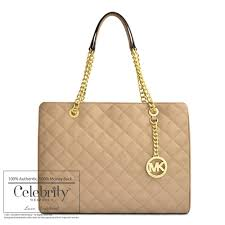 Michael Kors Susannah Large Quilted-Leather Tote in Dark Khaki ... & ... Michael Kors Susannah Large Quilted-Leather Tote in Dark Khaki ... Adamdwight.com