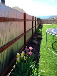 corrugated metal fence ideas corrugated fence using metal building brackets spacing landscaping fences building and metals