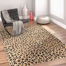 well woven dulcet leopard black ivory animal print area rug 3 3 x 5 kitchen