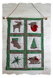 Free Patchwork and Quilting Craft - Christmas Wall Hanging & Christmas Quilt - Wallhanging Adamdwight.com