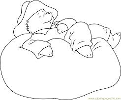 Small Picture Paddington Bear Sleeping Coloring Page Free Paddington Bear