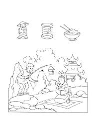 Chinese Vlag Kleurplaat