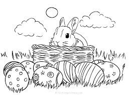 We trace the coloring page first to give an example of the steps you can take to draw it on blank paper. Free Bunny Coloring Pages For Kids Coloring Sheets