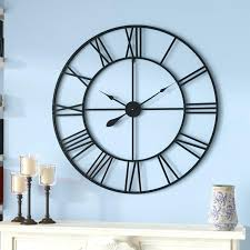 wall clock roman numerals oversized cut out numeral reviews birch lane metal with by ashland wall clock roman numerals