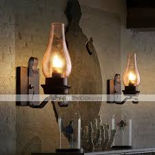 Small Picture Retro Rustic Nordic Glass Wall Lamp Bedroom Bedside Wall Sconce