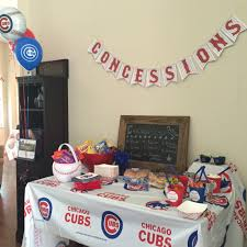 chicago cubs themed birthday party