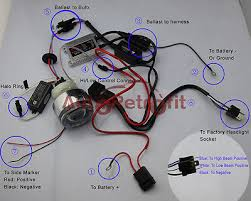 motorcycle hid bi xenon projector lens wiring diagram acirc145nbspred wire connect to battery positive